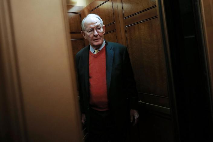 Senator Lamar Alexander arrives at the US Capitol as the Senate prepares for a key vote in the Donald Trump's impeachment trial: Getty Images