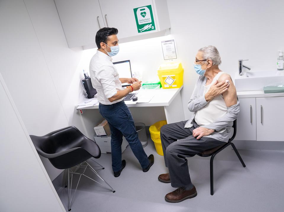 Now that the majority of over-80s have been vaccinated, many are abandoning lockdown restrictions (PA)