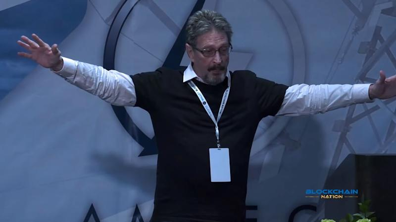 John McAfee has seemingly emerged after recently going dark to discuss his presidential run and how much Americans are loathed around the world. | Source: CWJ Crypto World Journal/YouTube