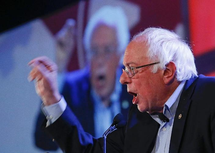 """Senator Bernie Sanders urged Democrats to do """"everything they can"""" to oppose a Republican healthcare bill that for weeks has been drafted by party leaders in secret (AFP Photo/JIM YOUNG)"""
