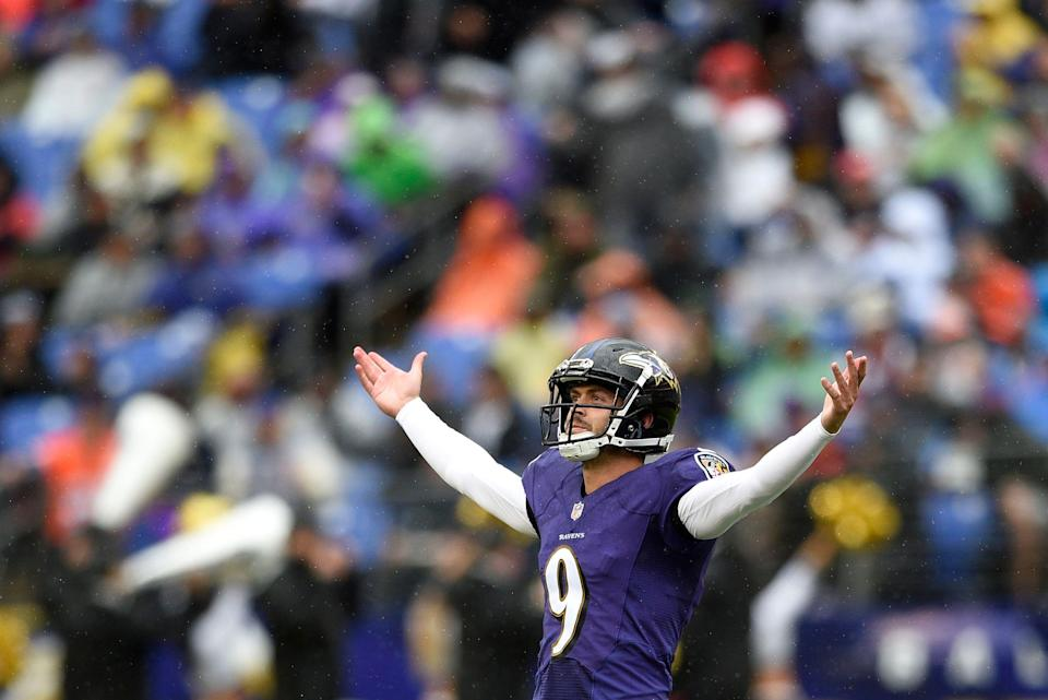 All hail the king: the Baltimore Ravens and Justin Tucker agreed to a four-year extension that's the richest for a kicker in league history. (AP)