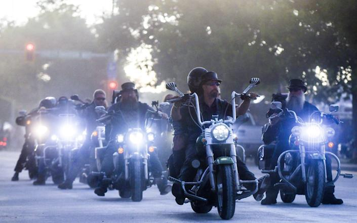 Motorcyclists ride down Lazelle Street during the 80th Annual Sturgis Motorcycle Rally in Sturgis, South Dakota - Michael Ciaglo/Getty Images