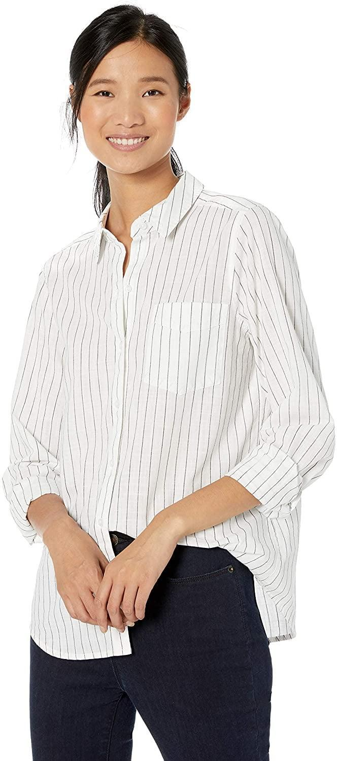 <p>This <span>Goodthreads Washed Cotton Boyfriend Shirt</span> ($30) is the exact piece she's wearing - I can't wait to wear it off-the-shoulder.</p>