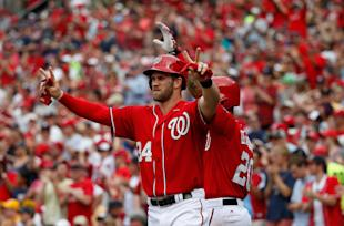 Bryce Harper is hitting .342 with 24 home runs. (Getty Images)