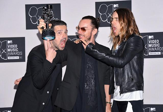 <p>The trio, fronted by Jared Leto, has a new album coming out.<br> (Photo: Getty Images) </p>