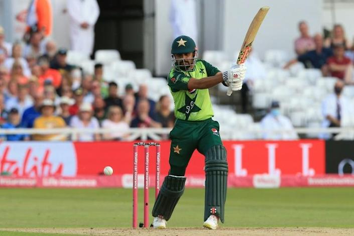 Captain's innings Pakistan's Babar Azam made 85 in the 1st T20 against England at Trent Bridge on Friday