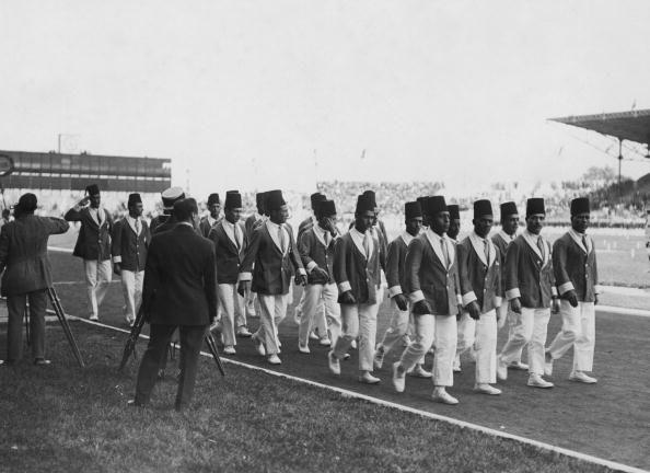 <p>The Egyptian team arrives at the stadium for the 1924 Summer Olympic Games in Paris, France. </p>