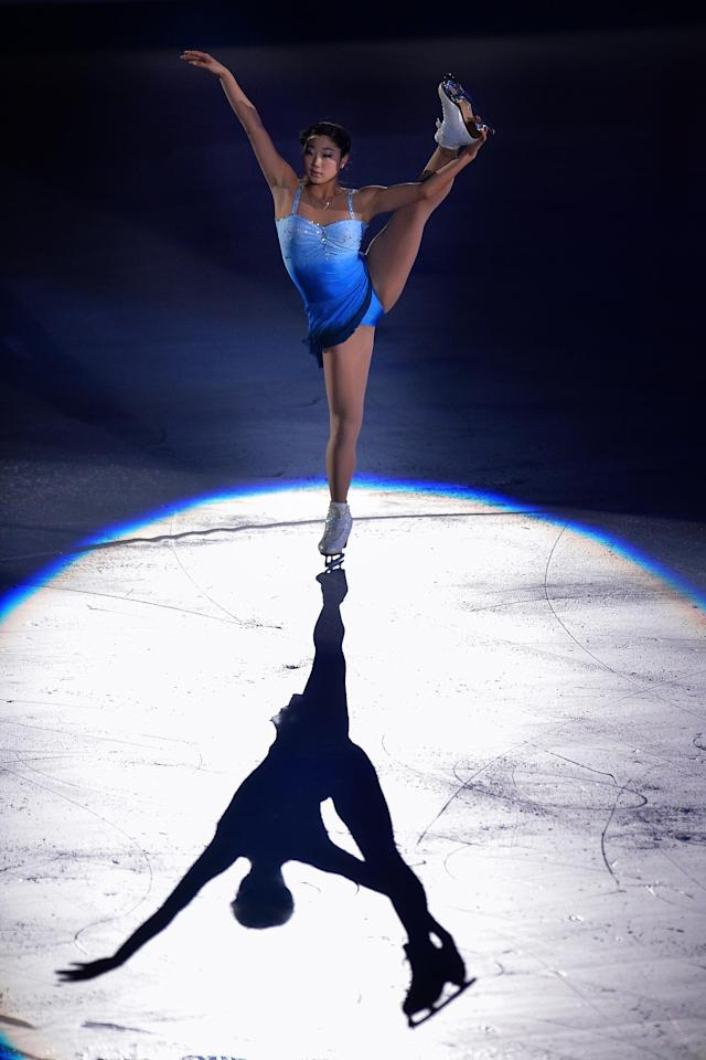 TOKYO, JAPAN - NOVEMBER 10: Mirai Nagasu of United States performs in the Gala Exhibition during day three of ISU Grand Prix of Figure Skating 2013/2014 NHK Trophy at the Yoyogi National Gymnasium on November 10, 2013 in Tokyo, Japan. (Photo by Koki Nagahama/Getty Images)
