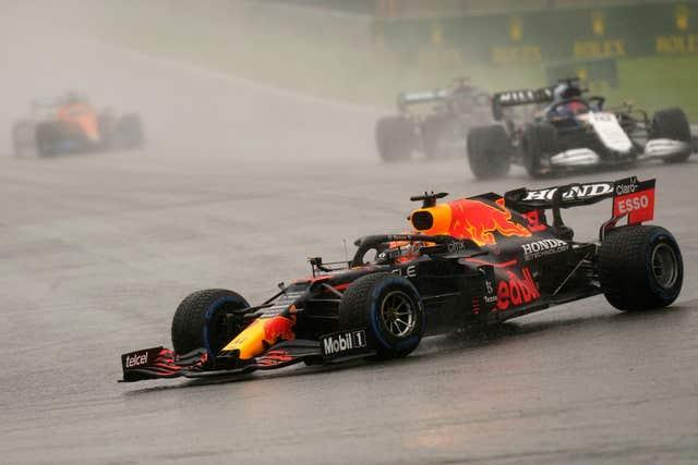 Max Verstappen closed the gap on title rival Lewis Hamilton (Francisco Seco/PA)