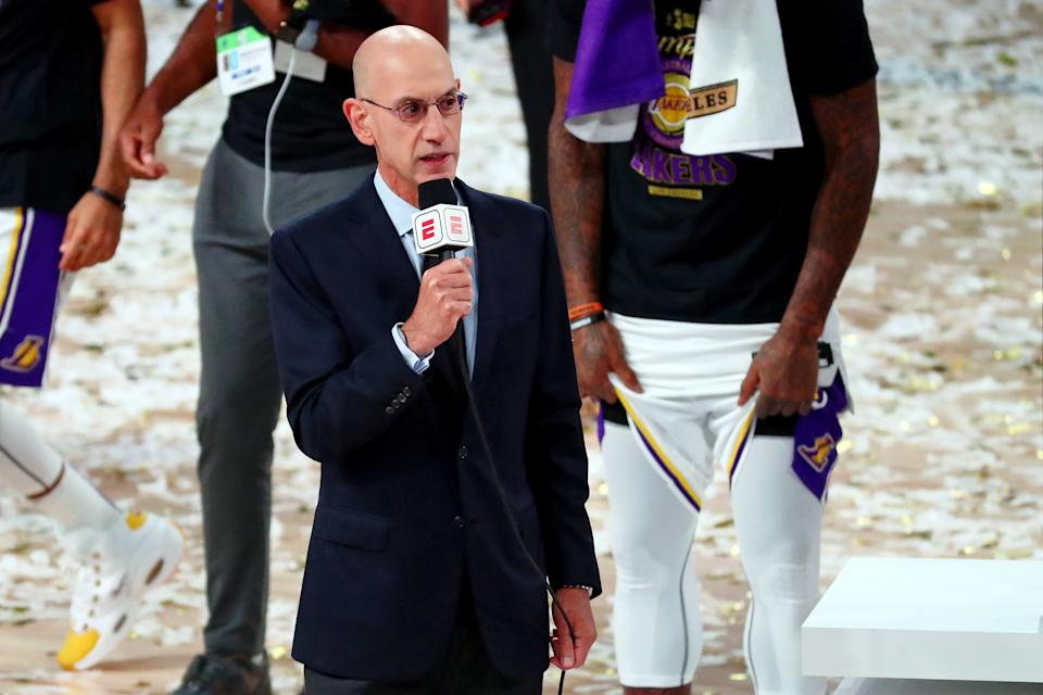 NBA commissioner Adam Silver has successfully negotiated a Dec. 22 start to the 2020-21 season. (Kim Klement/Reuters via USA TODAY Sports)