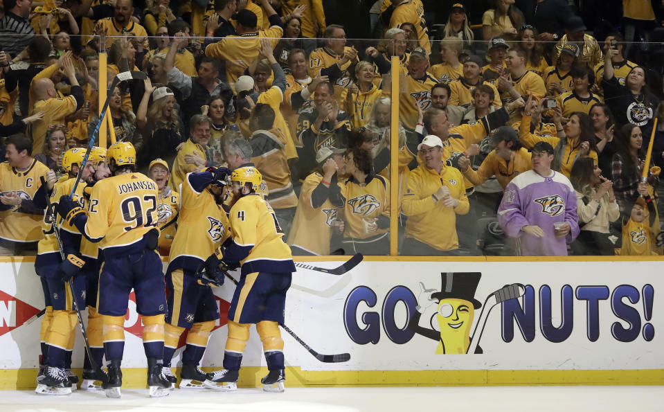 Nashville fans back the Predators on the ice; will they back them in the voting booth? (AP)