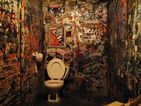 CBGB Graffiti toilet