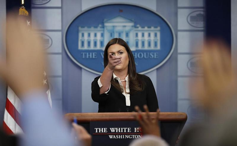 Ma Sanders claimed the two former presidents were not attacking Ms Trump (AP Photo/Carolyn Kaster)
