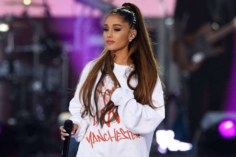 Ariana Grande: The pop star has revealed her bee tattoo tribute to victims of the bombing: Getty Images/Dave Hogan for One Love Manchester)