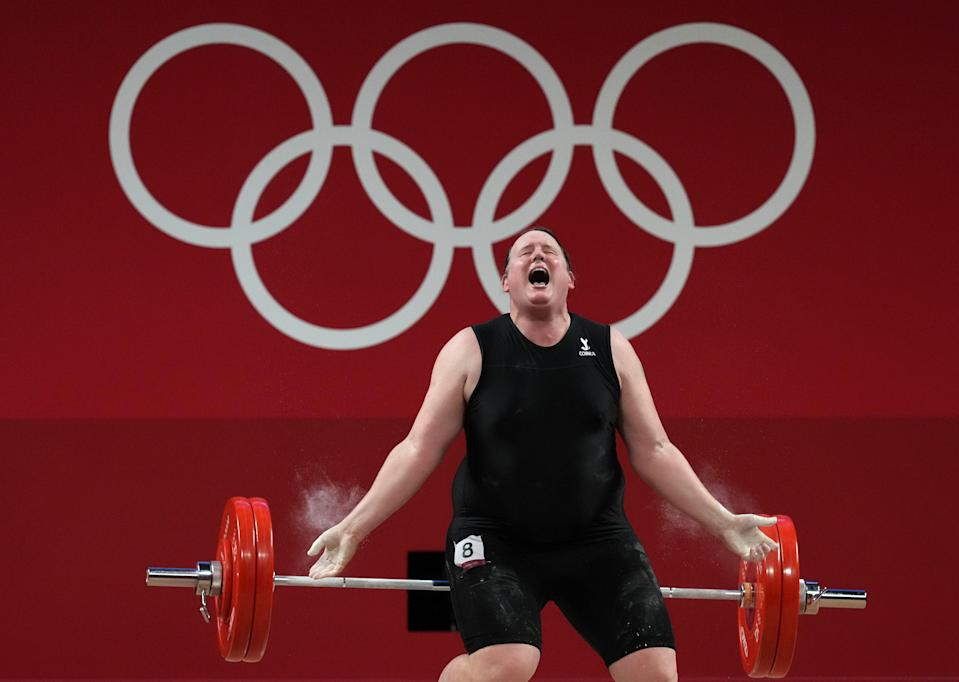 Laurel Hubbard bowed out of the Olympics without a lift (Martin Rickett/PA) (PA Wire)