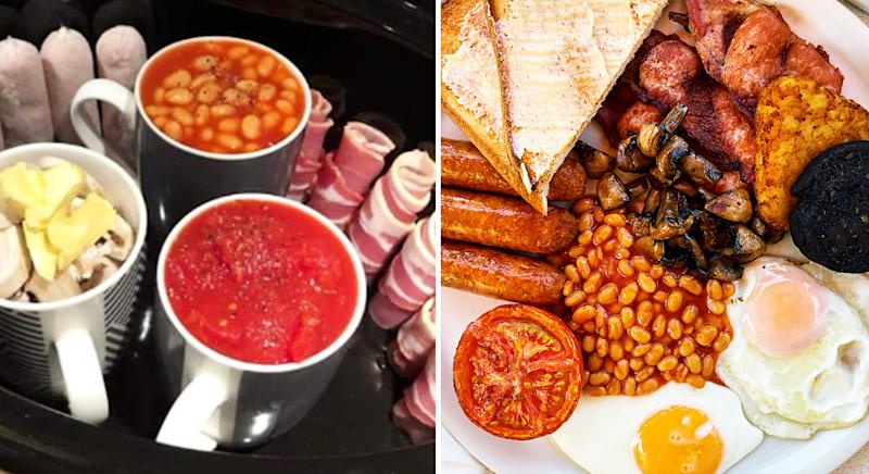 Woman Amazes With Slow Cooker English Breakfast Hack