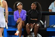 """<p>Osaka has made deep and personal connections with some of the greatest athletes of all time. She has referred to Serena Williams as her """"<a href=""""https://www.instagram.com/p/B7VpeYQJwyx/"""" class=""""link rapid-noclick-resp"""" rel=""""nofollow noopener"""" target=""""_blank"""" data-ylk=""""slk:mom"""">mom</a>"""" and the late <a class=""""link rapid-noclick-resp"""" href=""""https://www.popsugar.com/Kobe-Bryant"""" rel=""""nofollow noopener"""" target=""""_blank"""" data-ylk=""""slk:Kobe Bryant"""">Kobe Bryant</a> as her """"<a href=""""https://www.instagram.com/p/B7z81_3Jqxm/"""" class=""""link rapid-noclick-resp"""" rel=""""nofollow noopener"""" target=""""_blank"""" data-ylk=""""slk:big bro"""">big bro</a>."""" Before his death, Bryant texted Osaka after matches, especially losses, to help her remain confident. """"<a href=""""https://www.wsj.com/articles/naomi-osaka-interview-us-open-kobe-blm-11598356462"""" class=""""link rapid-noclick-resp"""" rel=""""nofollow noopener"""" target=""""_blank"""" data-ylk=""""slk:There would be some really tough losses"""">There would be some really tough losses</a>. I didn't even know he was paying attention, but he would text me positive things and tell me to learn from it,"""" she told <strong>WSJ Magazine</strong>. """"For me, it was definitely helpful.""""</p>"""