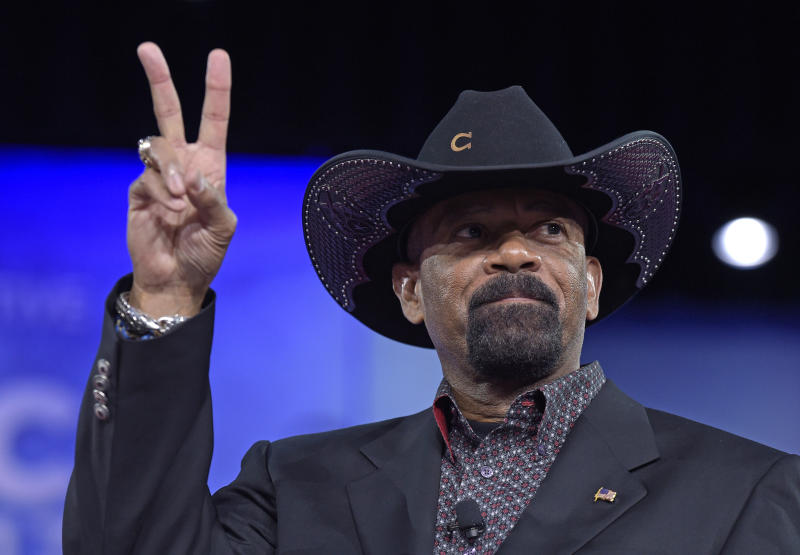 Former Milwaukee County Sheriff David Clarke speaks at the Conservative Political Action Conference. (AP Photo/Susan Walsh File)