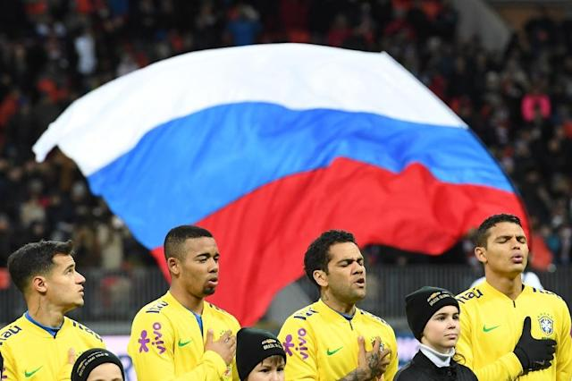 BBrazil beat Russia 3-0 in Moscow in an international friendly on Friday (AFP Photo/Kirill KUDRYAVTSEV)