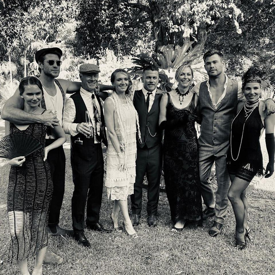 The Hemsworth family celebrated Luke's 40th birthday with a Peaky Blinders themed party over the weekend. Photo: Instagram/Chris Hemsworth