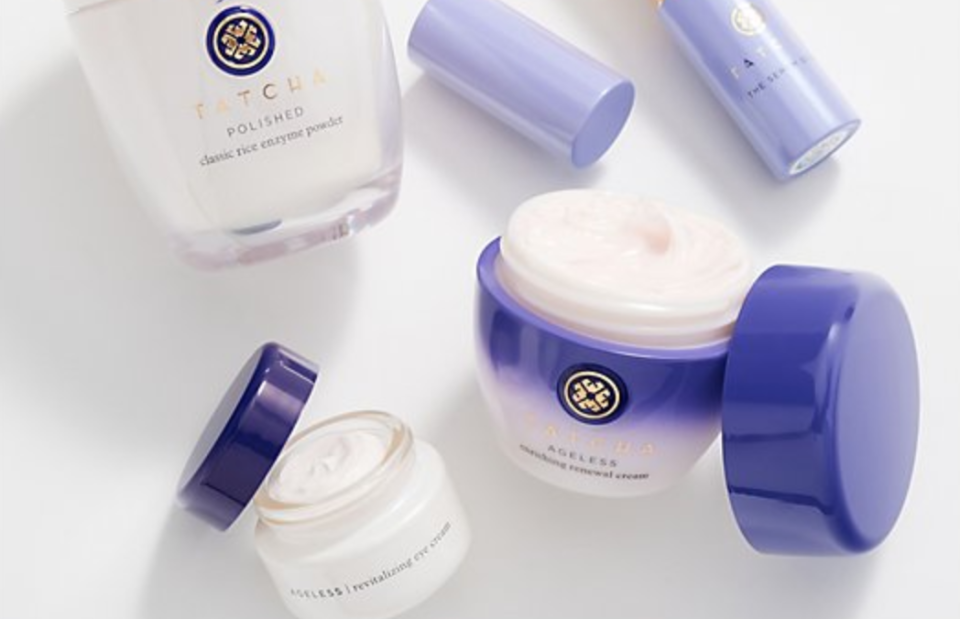 This four-piece kit comes with eye cream, moisturizer, balm and exfoliant. (Photo: QVC)