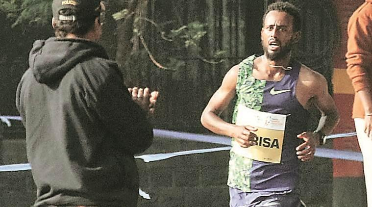 Mumbai Marathon winner, Derara Hurisa, Ethiopia man wins mumbai marathon, Mumbai news, maharashtra news, indian express news