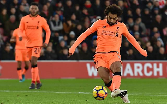 With the 22nd goal of an already extraordinary first season at Liverpool, Mohamed Salah jumped to the top of an elite list of goal-scorers. It was his 19th strike with his left foot, making his first season back in England the joint-most prolific the Premier League has ever seen when it comes to left-footed goals. Only fellow Red Robbie Fowler has scored as many in a single season, and he did so when the top flight had 22 teams and so each side played four extra matches. Salah, though, has equalled the Premier League record with 11 matches to spare in a shorter, 38-game season. His 19 left-footed goals is only one fewer than Swansea City's overall total in the 'Goals For' column, and only two behind seventh-placed Burnley. Goals scored | Premier League 2017/18 This is only the 16th time in Premier League history that a player has made it past 10 left-footed goals in a season, and only the sixth time someone has made it to 15. It has been an astonishing campaign by anyone's standards, let alone for a player only just being given their first proper run at English football having previously been disregarded. But if there was one criticism - though even calling it a criticism seems just a tad harsh - of Salah, it might be that it has been slightly too left-footed. Of the 73 instances of a player scoring 20 or more goals in a Premier League season, Salah's debut campaign at Liverpool is the most left-foot 'heavy'. That is, 86.4 per cent of his goals have come from his left boot - the highest proportion of any 20-goal Premier League season, by some distance. Highest proportion of goals scored with left foot | Premier League seasons Gareth Bale in 2012/13 and Robbie Fowler's 1994/95 come closest to challenging Salah in this regard, but beyond that, the other great left-footed forwards of the Premier League era - Robin van Persie, Daniel Sturridge, Romelu Lukaku and Louis Saha - are all remarkably two-footed. In Van Persie's most prolific season - his final year at Arsenal - he scored 30 goals, but just 17 were with his rocket of a left foot. Meanwhile, he scored 12 with his right; more than right-footers Mario Balotelli, Frank Lampard, Jermaine Defoe, Theo Walcott and Edin Dzeko to name a handful. The presence of Harry Kane in that list is quite something. The current campaign has seen Kane race to 23 league goals, with nine coming via each foot: take away his two penalties and he has had a more effective season with his left than his right. 39.1 per cent of Kane's goals this season have been left-footed Credit: Getty images Kane, a right-footed player who has worked tremendously hard on honing other skills to make him a more complete player, has had the 10th-most left foot-heavy 20-goal season in Premier League history. Right-footers, on the other hand are markedly more one-footed. Of the 73 times a player has scored 20 or more Premier League goals in a season, the most right-footed was Sergio Aguero in 2011/12, when 91.3 per cent of his goals came via his right boot. Even the 10th-most right-footed season saw Andrew Johnson net 81 per cent of his goals with his right. Perhaps left-footed players grow up being 'shown onto to their weaker foot' more often, and so become more accustomed to finding other routes to goal. A player with a decent shot is usually pretty easy to spot, so defenders do all they can to make sure that opponent cannot get a clear sight of goal on their strong foot. pic.twitter.com/hUFiD4YR2T— Mohamed Salah (@22mosalah) February 11, 2018 Teams have obviously tried to get Kane onto his left foot more, but as he becomes more two-footed, he just adapts and scores more with his left. For Salah, meanwhile, the pace at which he can move means defenders have even less chance to get him onto his significantly weaker right. He can burst into half a yard of space with such ease that he gets as many shooting opportunities on his left as he needs. It may have been a one-footed season so far for Salah, but it is frightfully effective, and six months in, nobody has found a way to stop him on his favoured side.