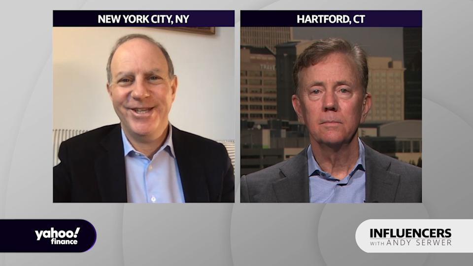 "Connecticut Governor Ned Lamont appears on ""Influencers with Andy Serwer."""