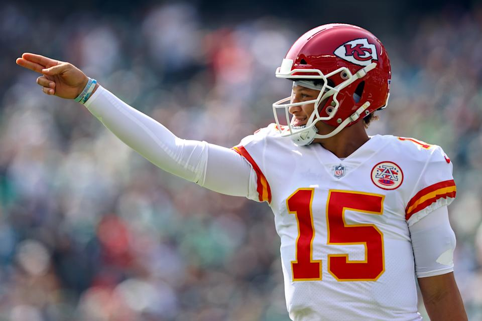 Patrick Mahomes' latest foray into wizardry was impressive even by his standards. (Mitchell Leff/Getty Images)