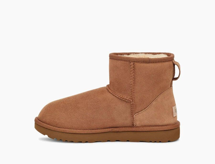<p>Here's the thing, even if you're dressed up and on video calls all day, nobody is looking at your feet, and being cozy will bring you a little bit of joy that is so desperately needed. We like these <span>UGG Classic Mini II Boots</span> ($150).</p>