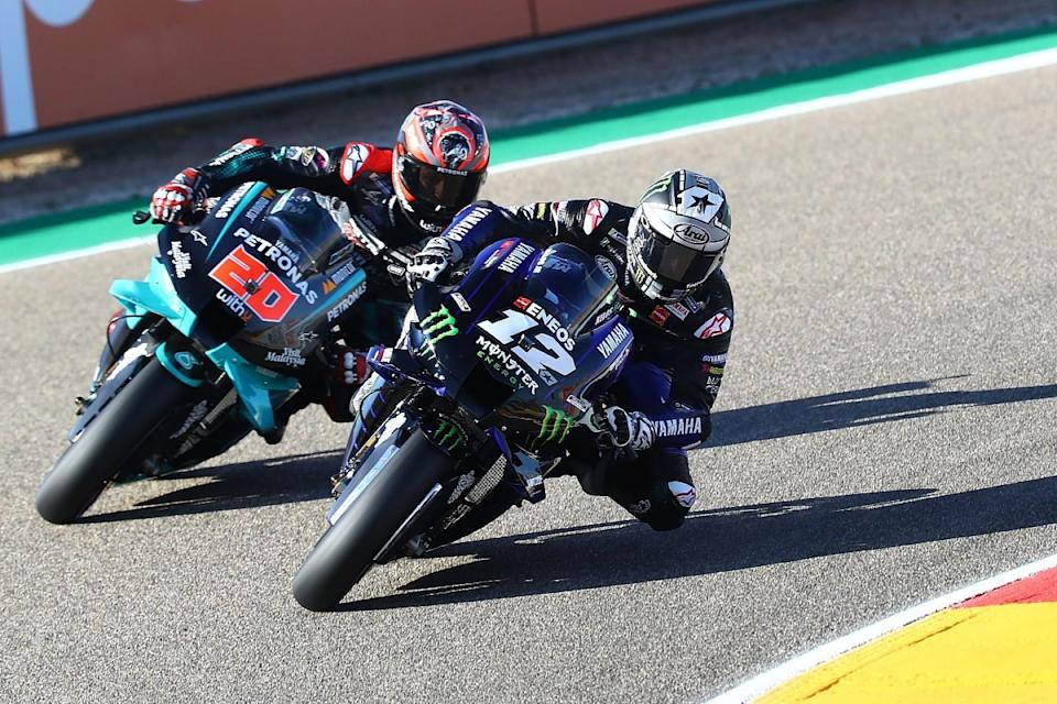 Yamaha riders continue to dominate Aragon practice
