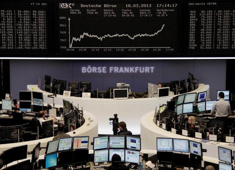 Picture of the DAX board at the Frankfurt stock exchange