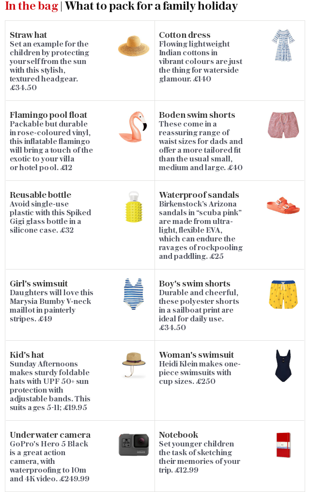 In the bag | What to pack for a family holiday