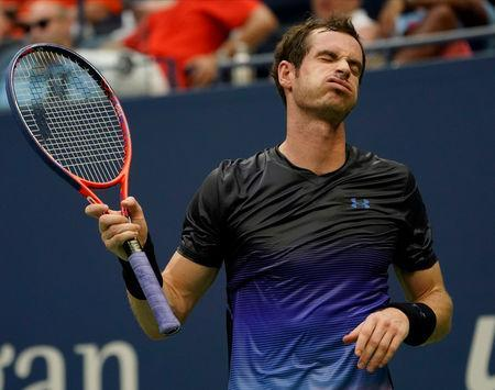 FILE PHOTO: Britain's Andy Murray at USTA Billie Jean King National Tennis Center, Aug 29, 2018; New York, NY, USA. Mandatory Credit: Robert Deutsch-USA TODAY Sports/File Photo