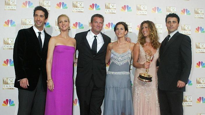 """Cast members of """"Friends"""" winner for Best Comedy Series at the 54th Annual Emmy Awards"""