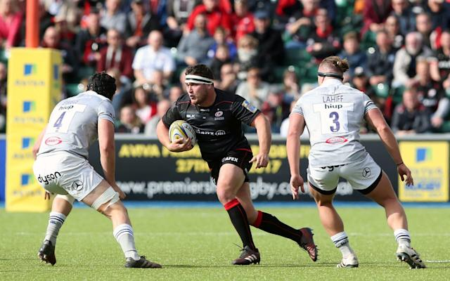 <span>Jamie George can prove his merits as a starter with Saracens</span> <span>Credit: REX </span>