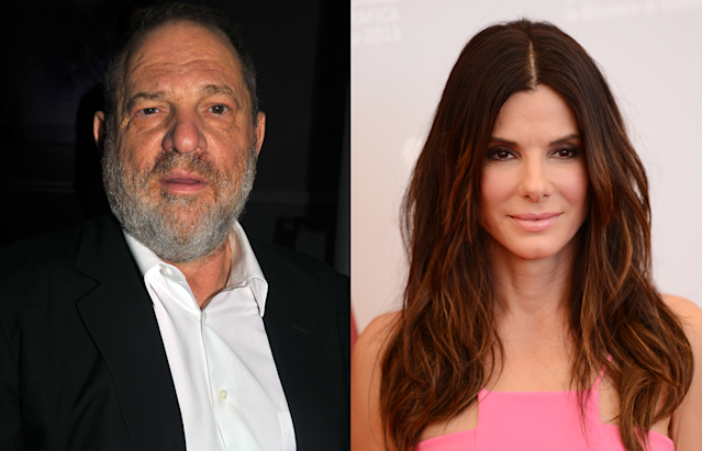 Harvey Weinstein and Sandra Bullock. (Photo: Getty Images)