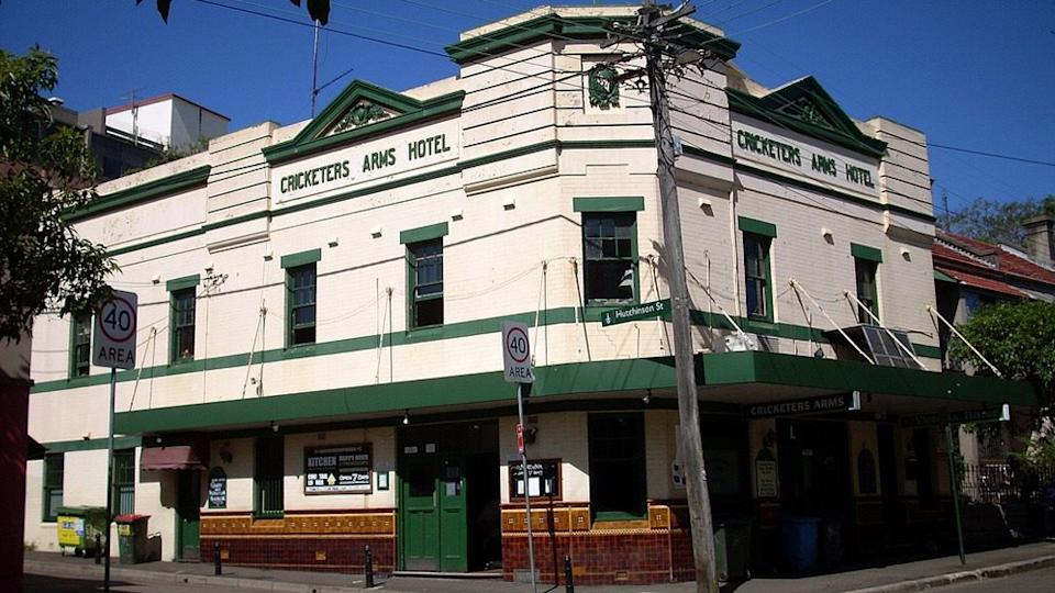 Pictured is the The Cricketers Arms Pub in Surry Hills.