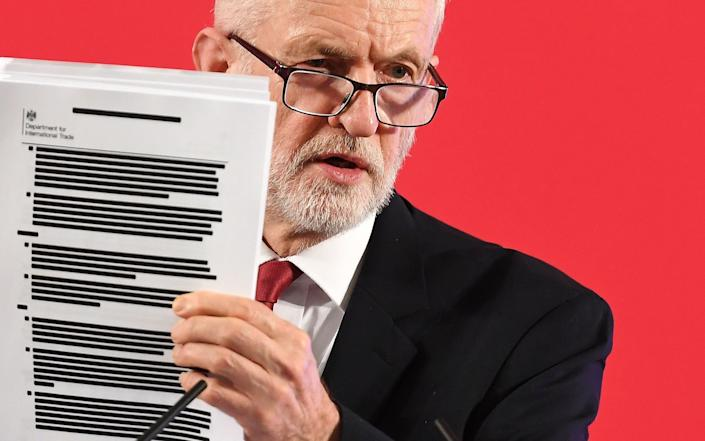 Jeremy Corbyn brandished the document during the 2019 campaign