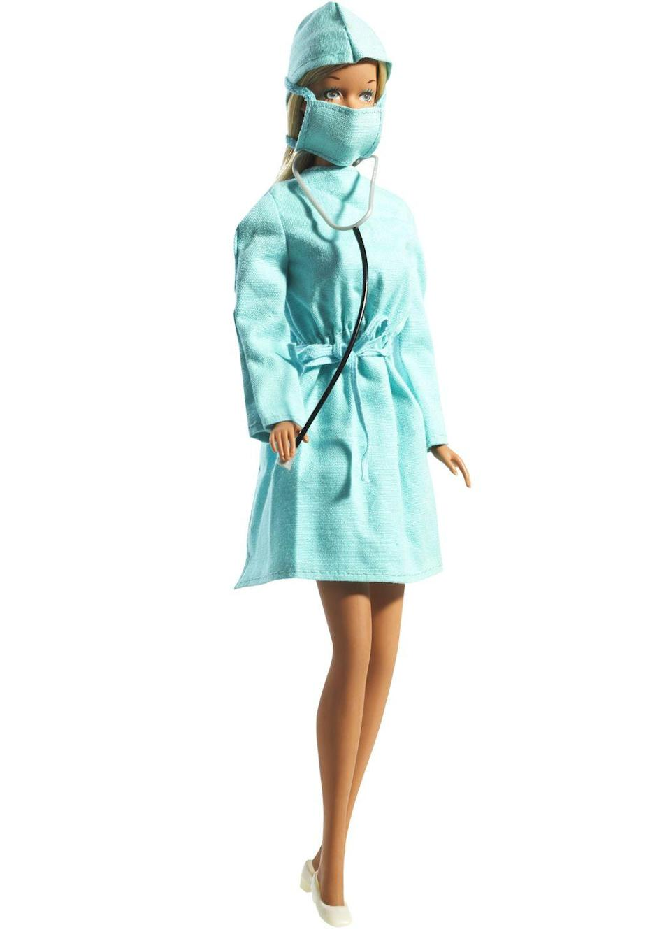 "<p>Surgeon Barbie does her rounds, adding doctor to her ever-increasing resume. </p><p><a href=""http://www.goodhousekeeping.com/life/entertainment/g2590/1970s-actors-then-vs-now/"" rel=""nofollow noopener"" target=""_blank"" data-ylk=""slk:'70s hunks then and now »"" class=""link rapid-noclick-resp""><em>'70s hunks then and now »</em></a></p>"