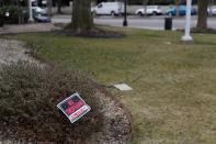 A no trespassing sign stands at the embassy of Saudi Arabia in Washington