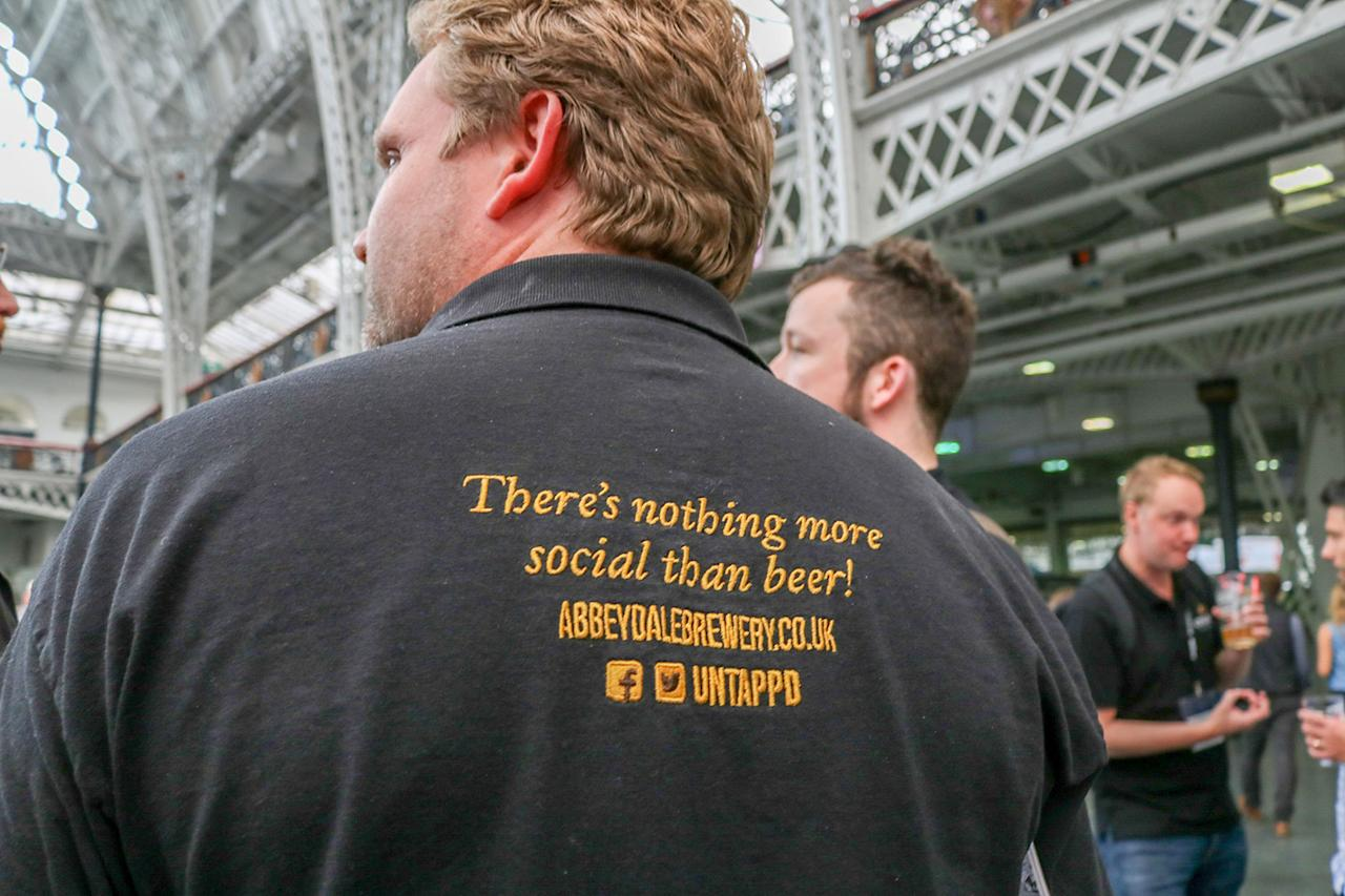 <p>Visitors wear social attire at the CAMRA Great British Beer Festival at Olympia London exhibition centre in London, Aug. 8, 2017 (Photo: Ray Tang/REX/Shutterstock) </p>