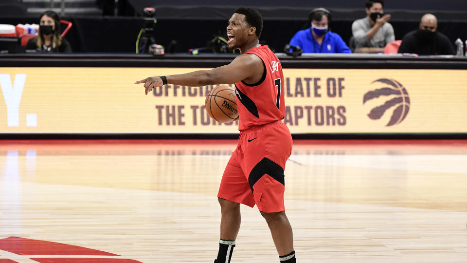 Kyle Lowry's uncertain future in Toronto looms large. (Photo by Douglas P. DeFelice/Getty Images)
