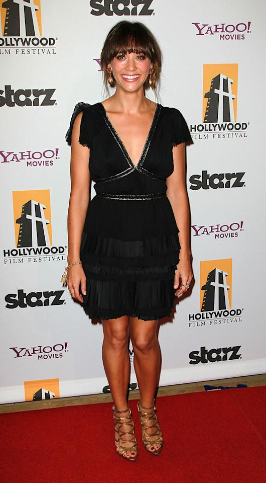 """<a href=""""http://movies.yahoo.com/movie/contributor/1804504112"""">Rashida Jones</a> attends the 14th Annual Hollywood Awards Gala at the Beverly Hilton Hotel on October 25, 2010."""