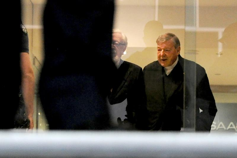 Pell has not had to enter a plea yet, but at his first appearance at the same court in July he instructed his lawyer to make clear he intended to plead not guilty (AFP Photo/Mal Fairclough)
