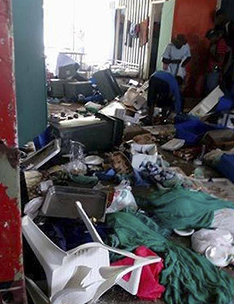 Image purportedly shows the ransacked immigration camp on Manus Island, Papua New Guinea, on Thursday (Refugee Action Coalition)