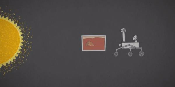 An animation illustrates how signal can be partially changed as it transits close to the Sun between Mars and Earth