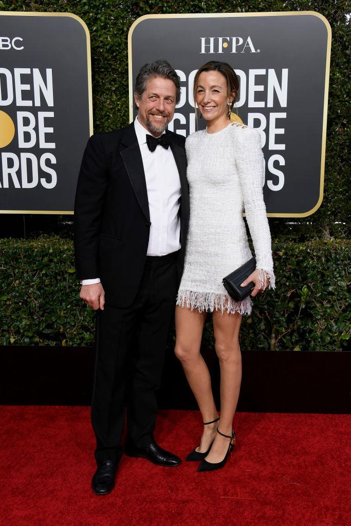 <p>Hugh Grant and Anna Elisabet Eberstein attend the 76th Annual Golden Globe Awards at the Beverly Hilton Hotel in Beverly Hills, Calif., on Jan. 6, 2019. (Photo: Getty Images) </p>