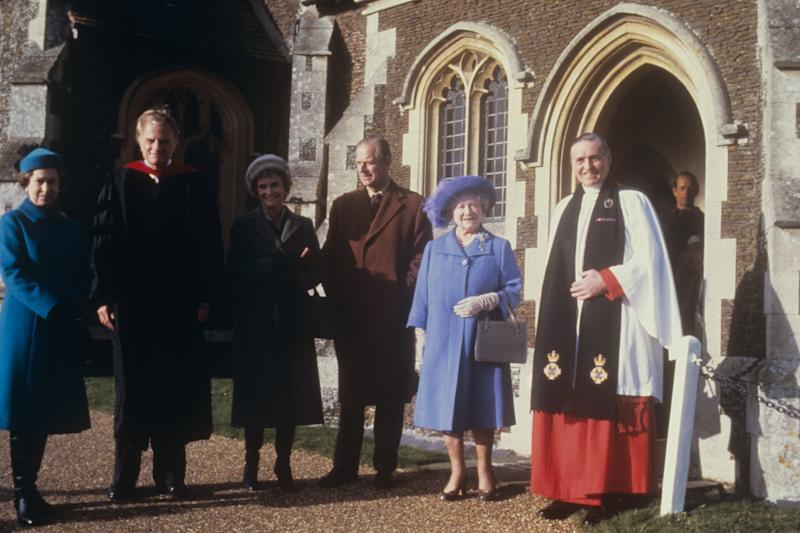 Royalty - Royal Family and Evangelist Billy Graham - Sandringham, Norfolk