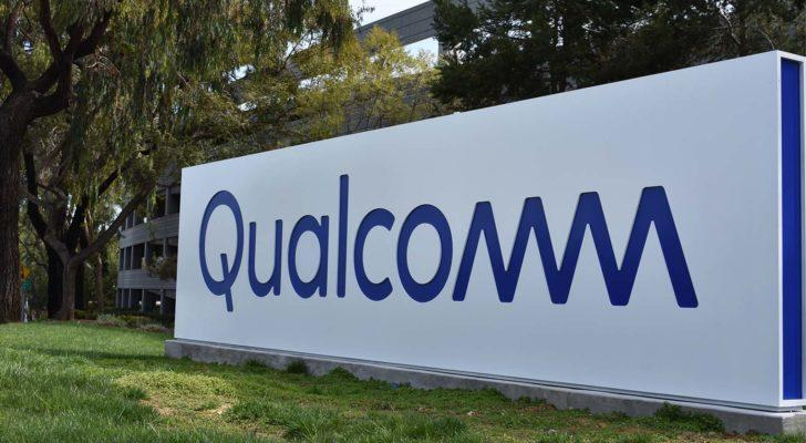 Qualcomm (QCOM) logo on an outdoor sign